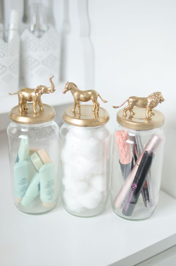 Funky N Cute Gold Storage Jars