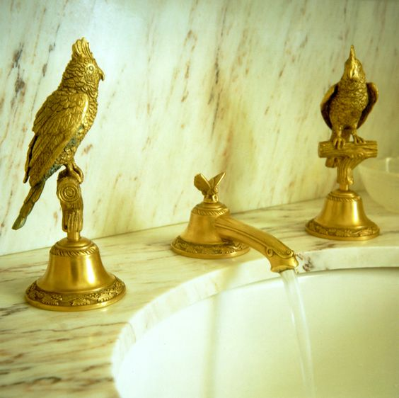 Quirky Gold Taps Designed By Howard Slatkin