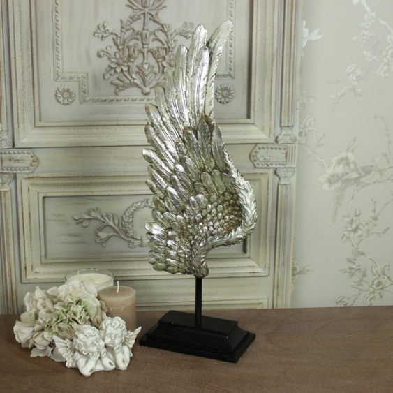 Silver Angel wing ornament