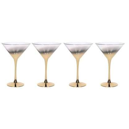 5A Fifth Avenue Pack of 4 Gold Ombre Martini Glasses - From Dunelm