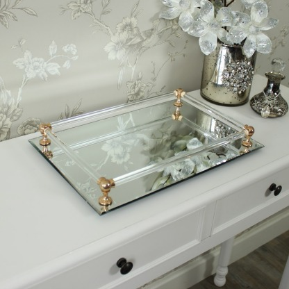 Mirrored Tray From Melody Maison